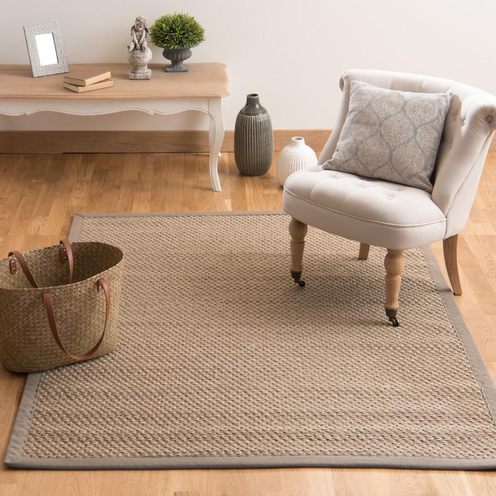 tapis tress en sisal beige 140 x 200 cm bastide maisons. Black Bedroom Furniture Sets. Home Design Ideas