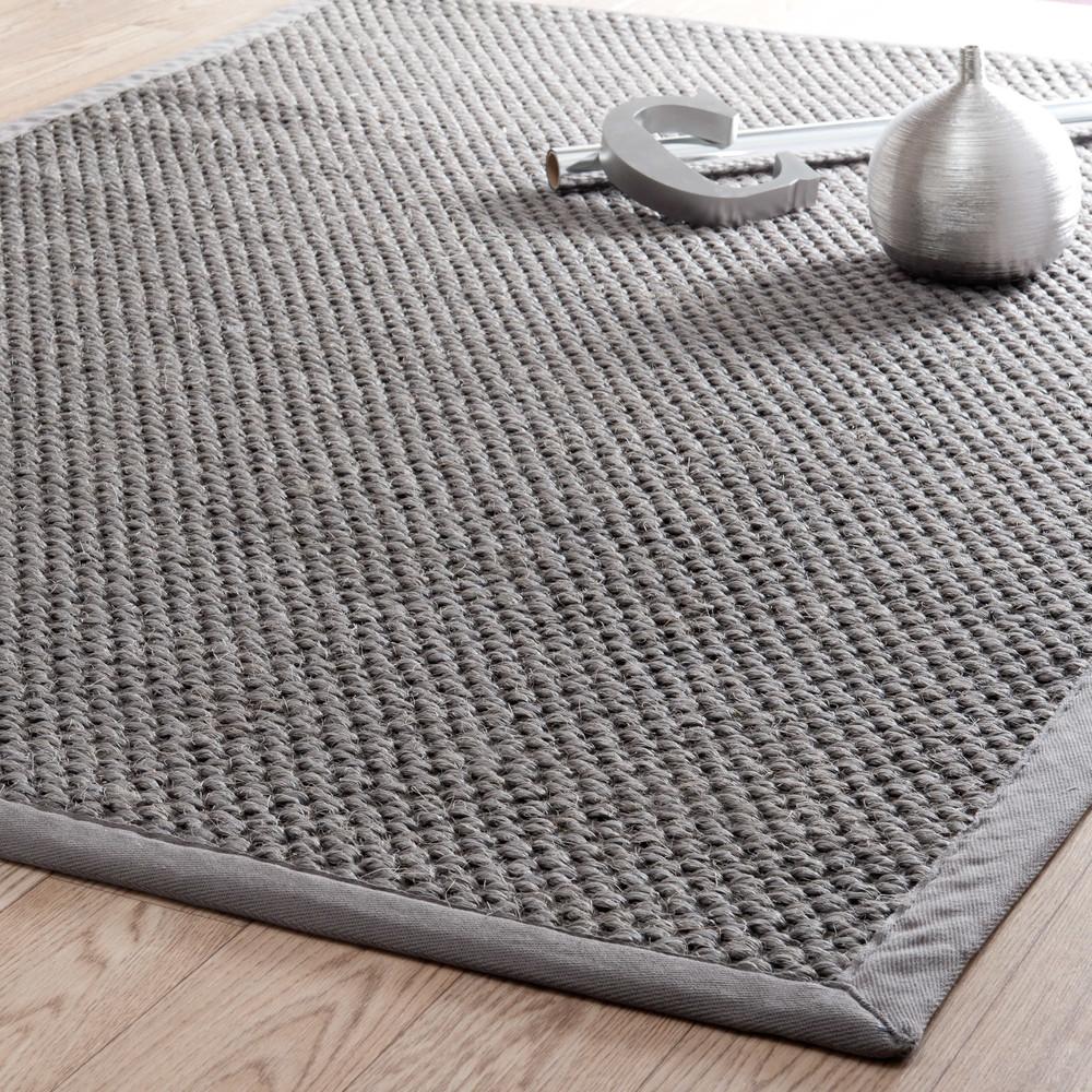 tapis tress en sisal gris 200x300cm bastide maisons du. Black Bedroom Furniture Sets. Home Design Ideas