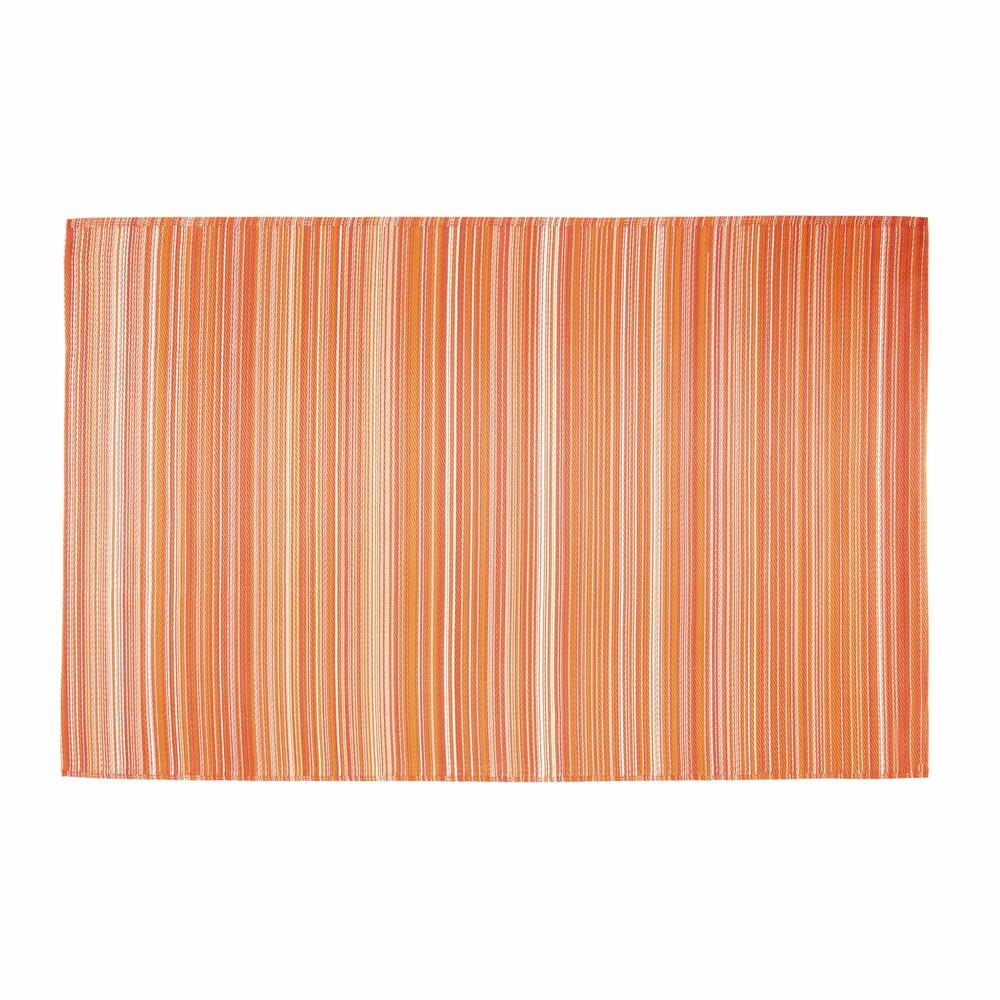 Tappeto arancione da esterno in tessuto 180 x 270 cm - Tappeto esterno ...