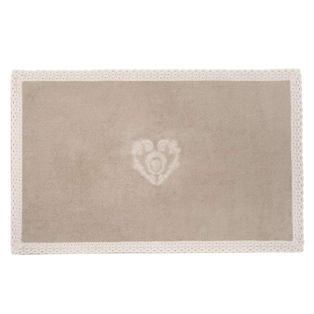 Tappeto da bagno beige in cotone 50 x 80 cm camille - Tappeti da esterno maison du monde ...