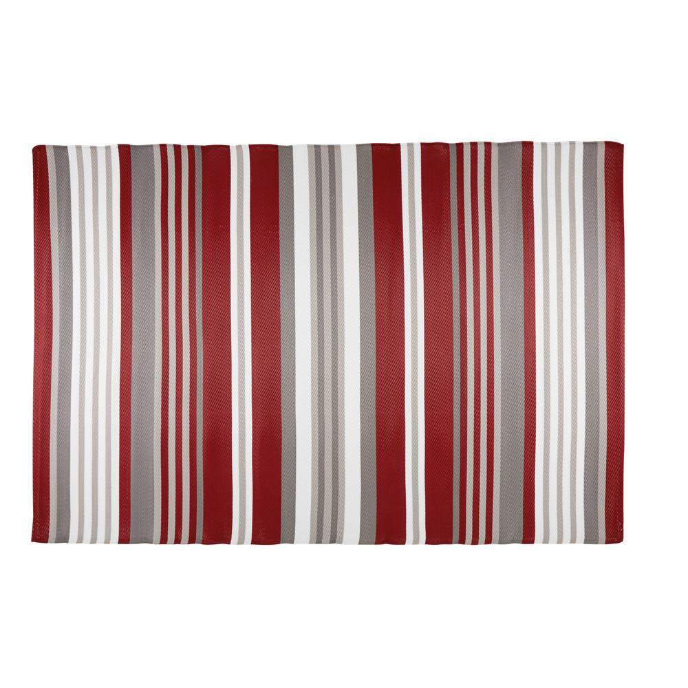 Tappeto da giardino in tessuto a righe rosse e bianche ...