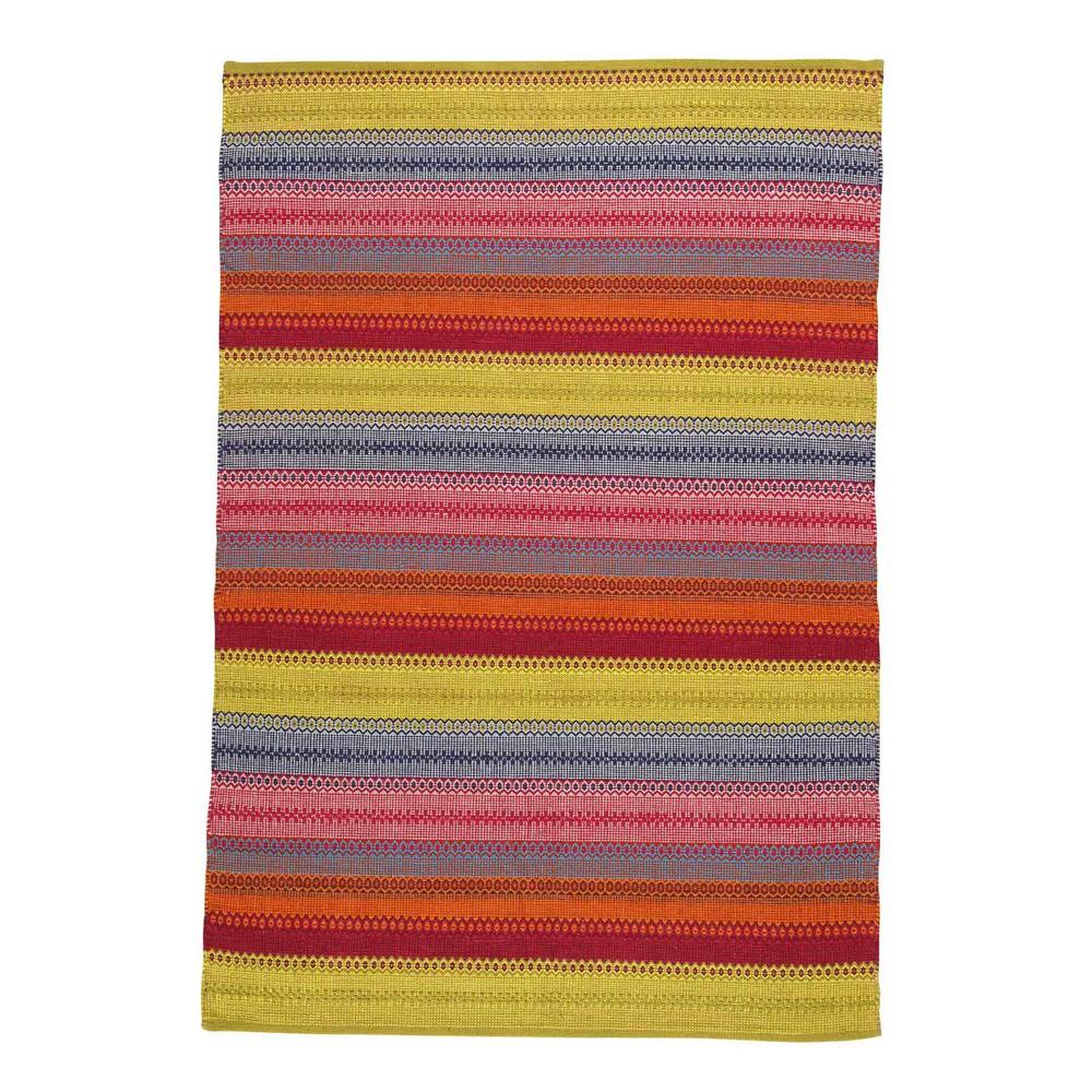 Tappeto Pvc Intrecciato : Tappeto intrecciato multicolore in cotone cm