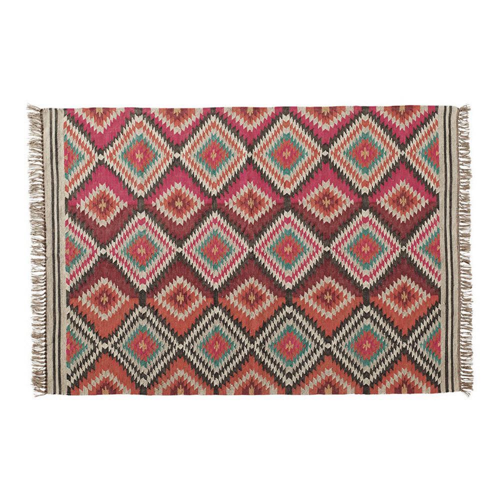 Tappeto Intrecciato : Tappeto intrecciato multicolore in lana cm