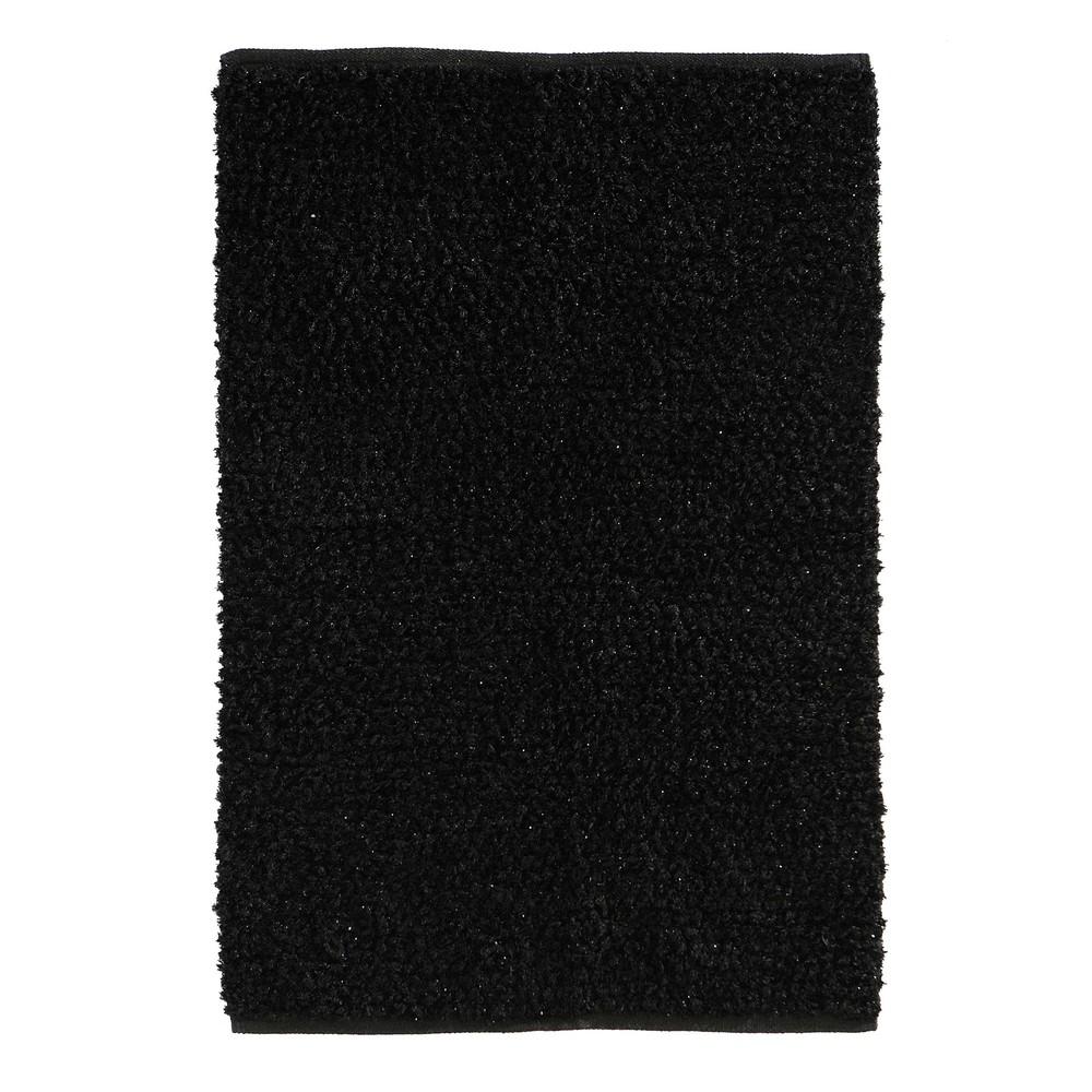 ispirazioni Lungo Soggiorno : ... pelo lungo ? Tappeto nero a pelo lungo 140 x 200 cm LUMIERE