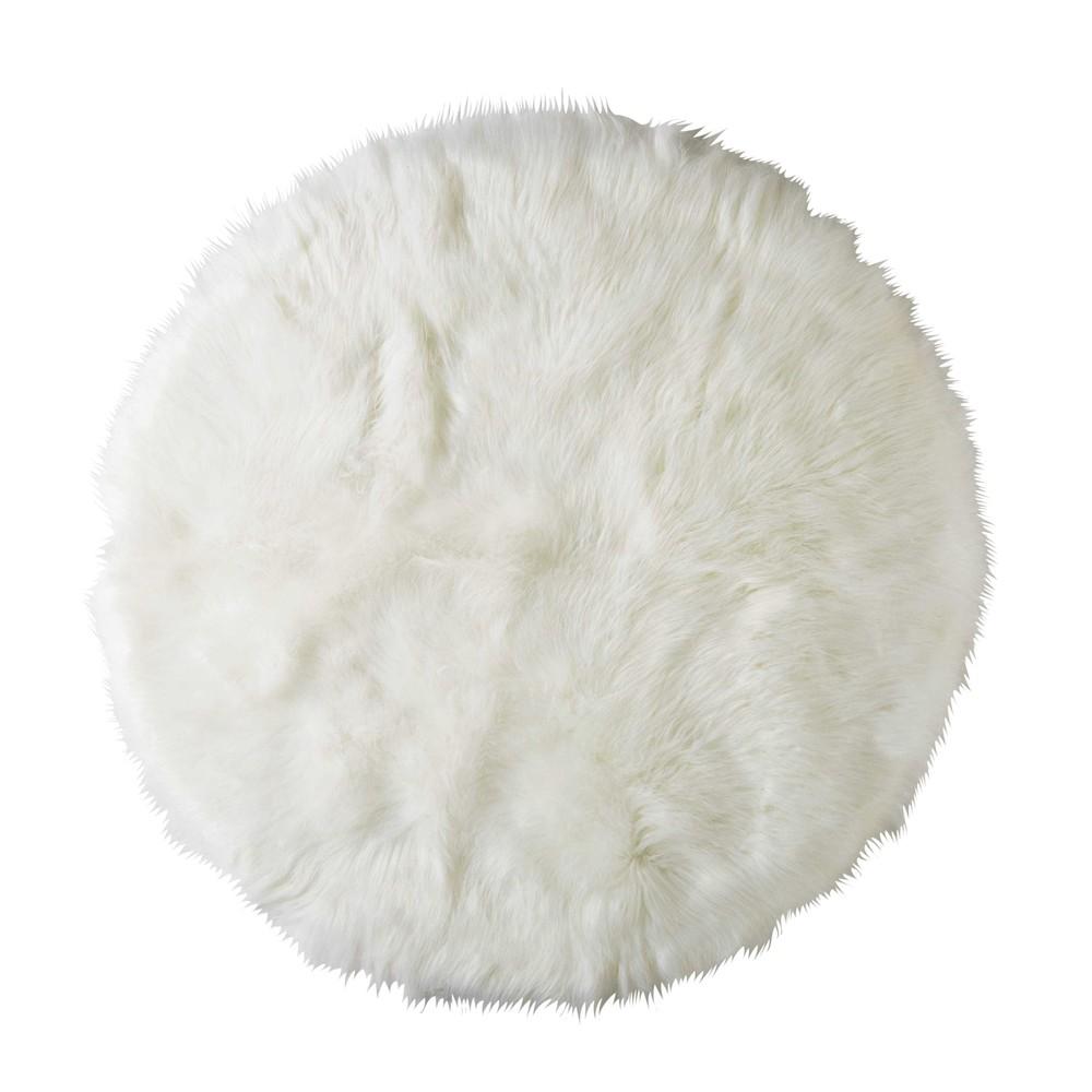 Interesting tappeto rotondo in simil pelliccia bianco d cm - Tappeto rotondo ikea ...