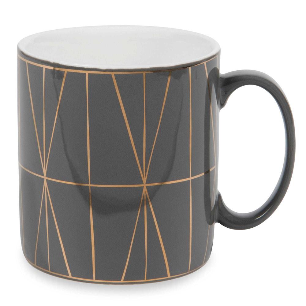 tasse aus steingut grau modern copper maisons du monde. Black Bedroom Furniture Sets. Home Design Ideas