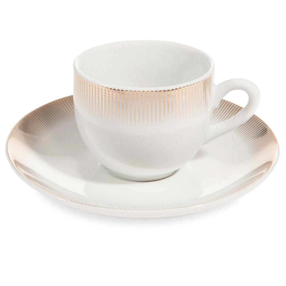 Tasse et soucoupe caf en porcelaine versailles maisons du monde - Tasse a cafe maison du monde ...