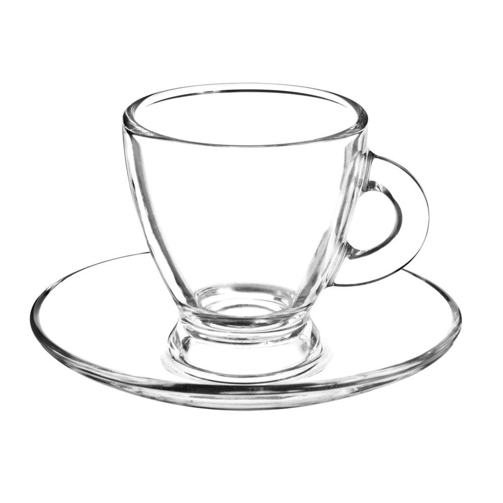 Tasse et soucoupe en verre roma maisons du monde - Tasse maison du monde ...