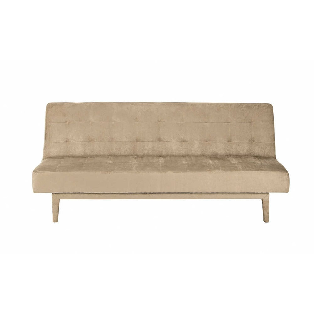 taupe 3 seater tufted clic clac sofa bed studio maisons. Black Bedroom Furniture Sets. Home Design Ideas