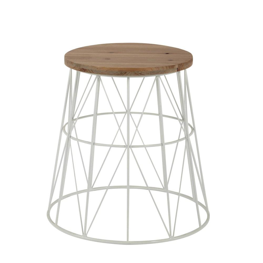 Tavolino da divano bianco in metallo l 45 cm summer for Maison du monde tavolini da salotto