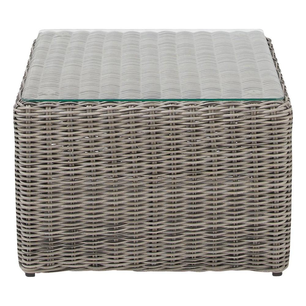 Tavolino da divano da giardino in resina intrecciata L 92 ...