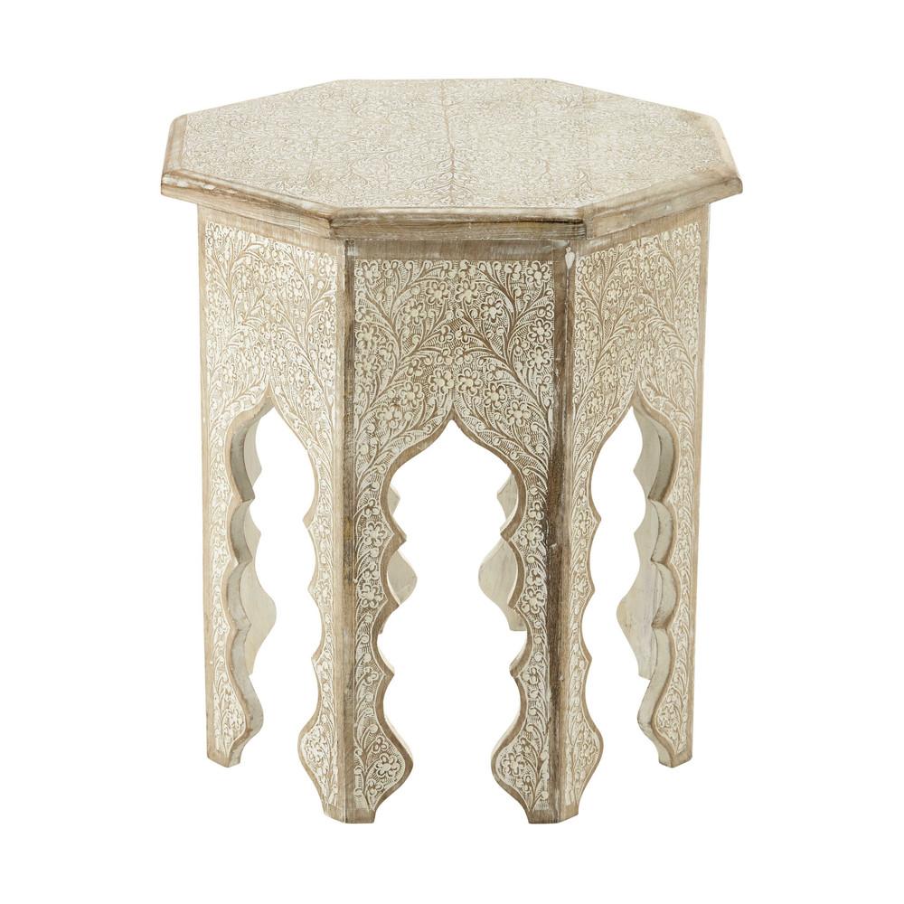 Tavolino da divano in legno sbiancato L 49 cm PATNA ...