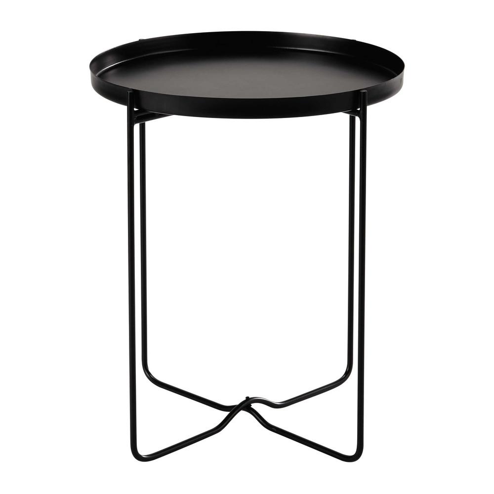 Tavolino da divano nero in metallo d 46 cm clarence - Tavolino divano ...