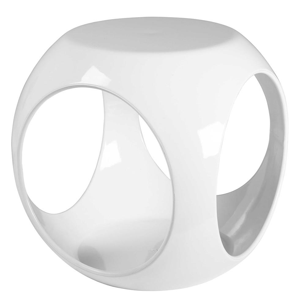 Tavolino da salotto bianco myriam maisons du monde for Salotto bianco