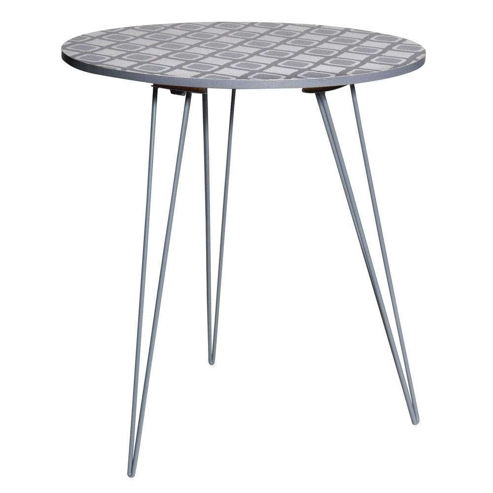 Tavolino da salotto imitazione legno e metallo grigio - Maison du monde tavolini da salotto ...