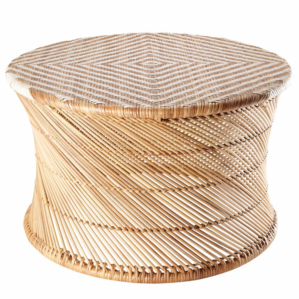 Tavolino da salotto in bamb e fili bianchi ossian for Tavolini da salotto bianchi