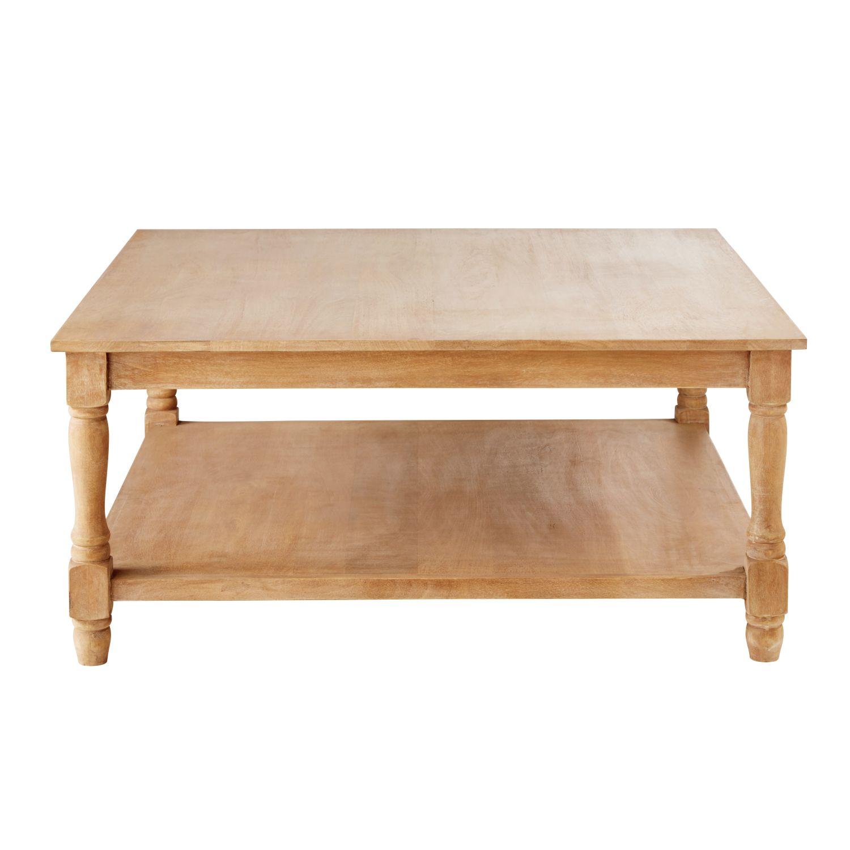 Tavolino da salotto in legno massello di mango Ambroise   Maisons du ...