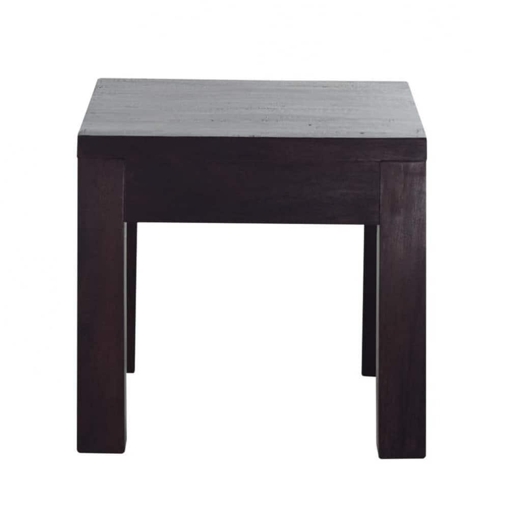 Tavolino da salotto in massello di mango l 43 cm bengali for Maison du monde tavolini da salotto