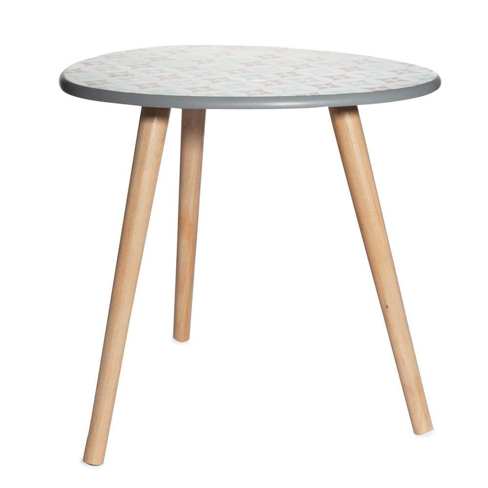 Tavolino da salotto in simil legno a motivi texel - Maison du monde tavolini da salotto ...