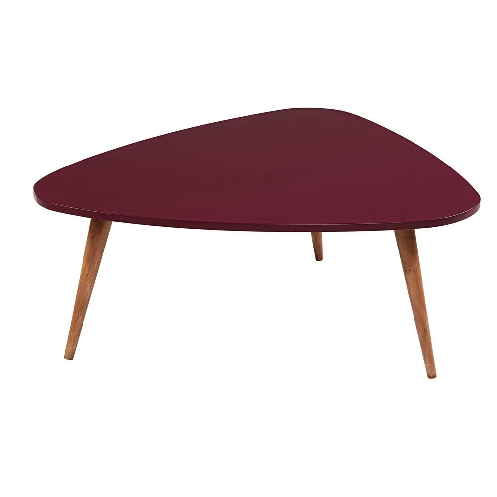 Tavolino da salotto vintage imitazione legno bordeaux for Maison du monde tavolini da salotto