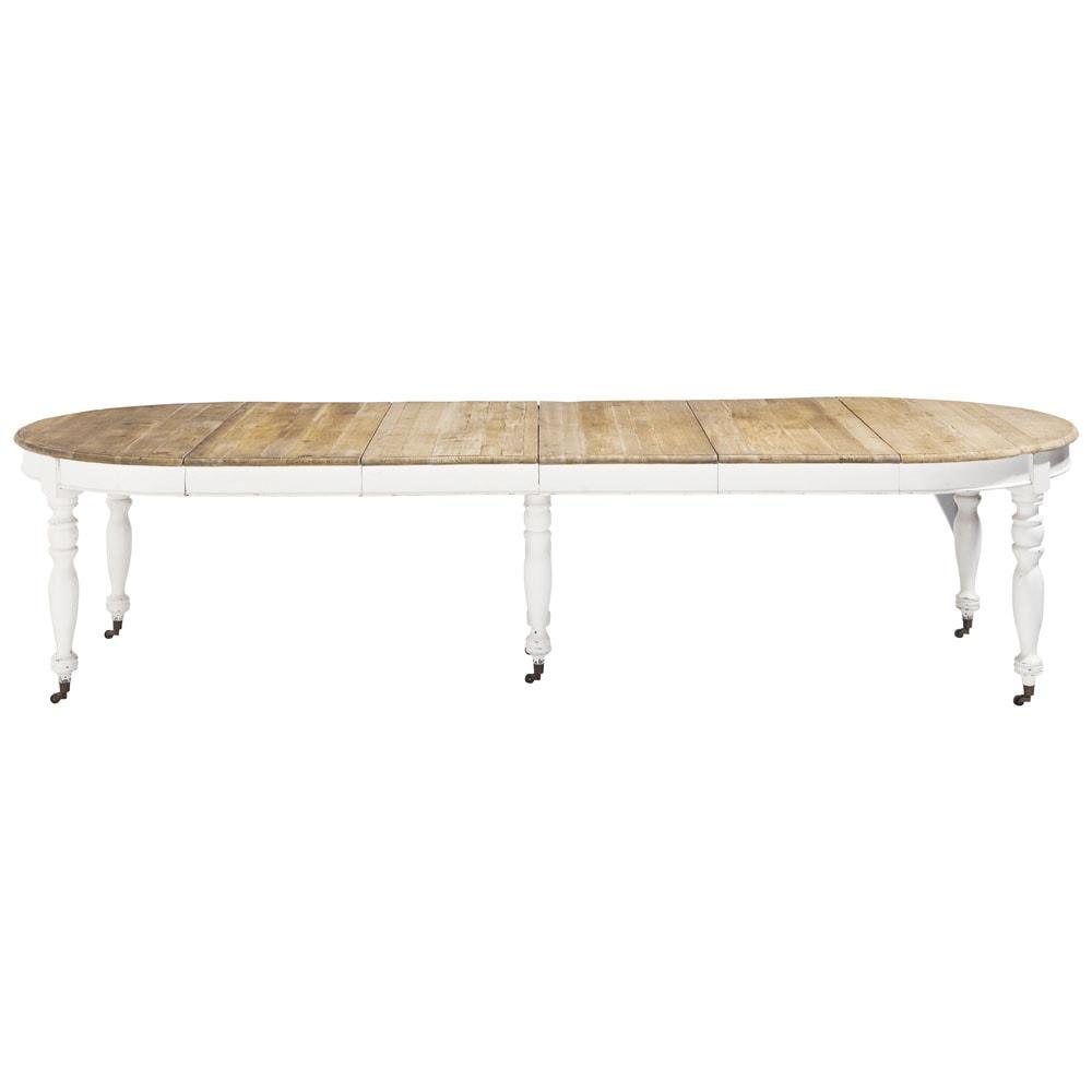 Tavolo allungabile a rotelle per sala da pranzo in legno l - Tavolo per sala da pranzo ...