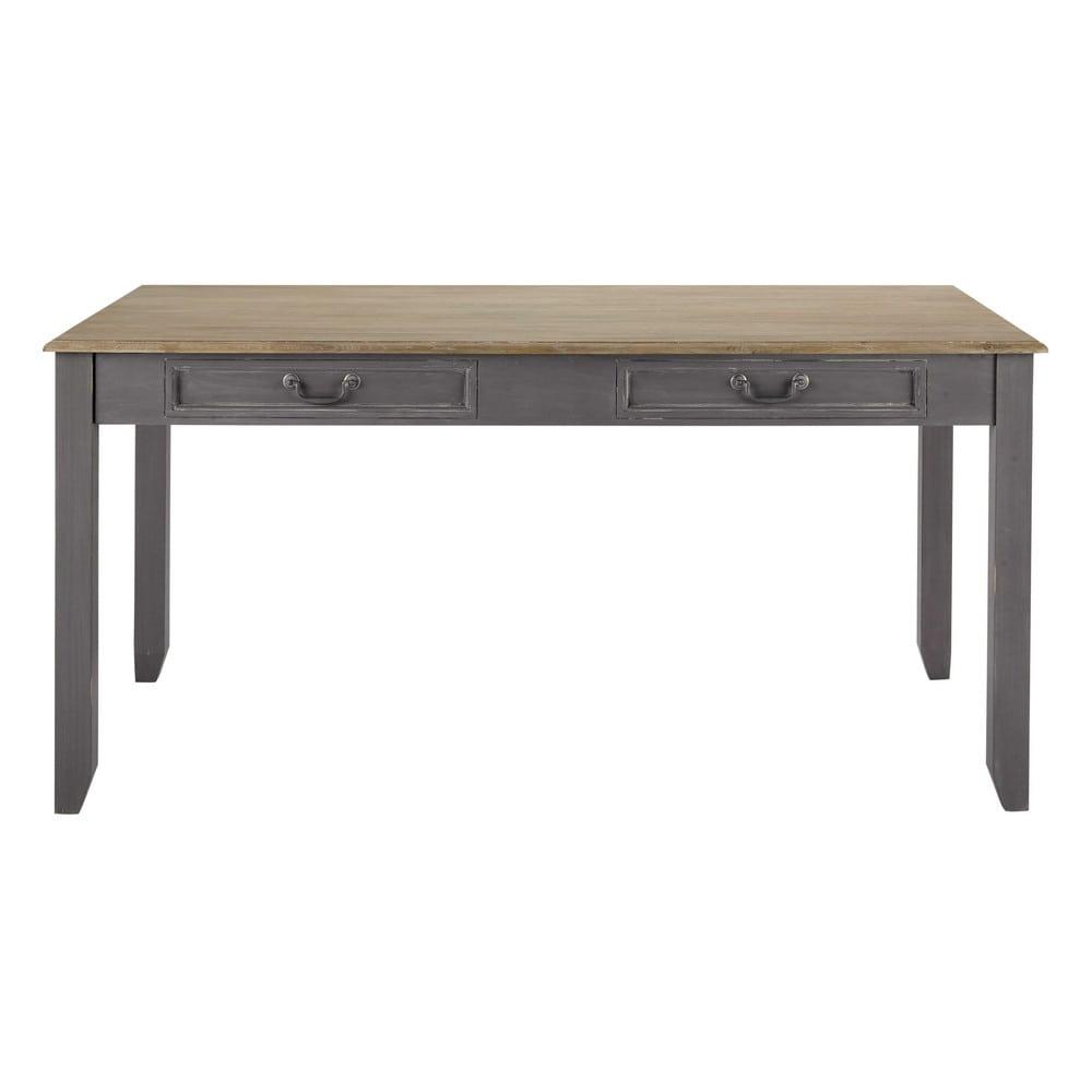 Tavolo allungabile grigio in legno per sala da pranzo l - Tavolo sala da pranzo allungabile ...
