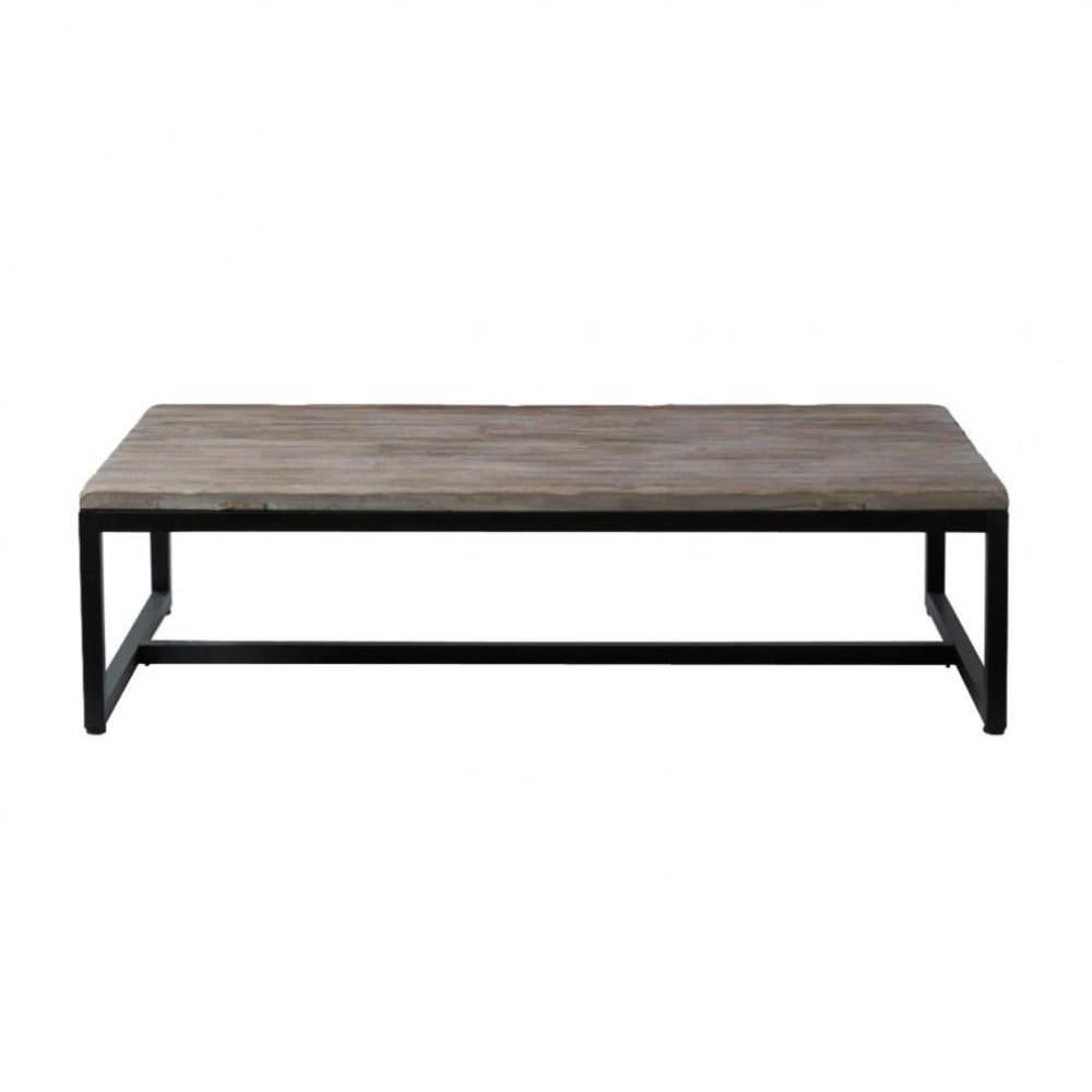 Tavolo basso stile industriale in legno e metallo L 129 cm Long ...
