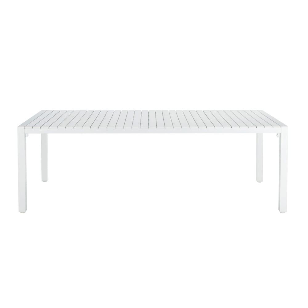 Tavolo bianco da giardino in materiale composito simil for Tavolo in alluminio