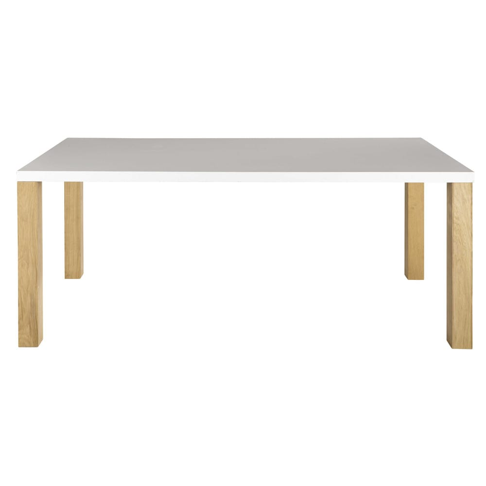 Tavolo bianco in legno per sala da pranzo l 200 cm austral for Tavolo in legno bianco