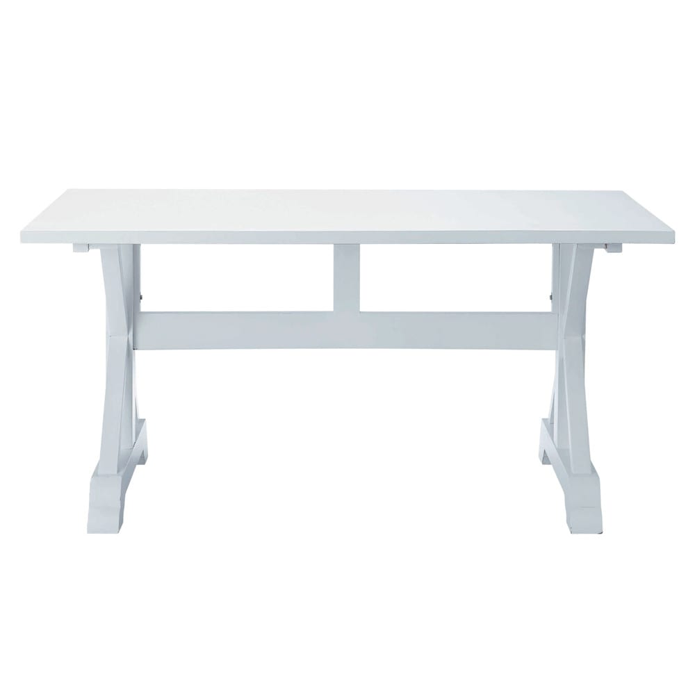 Tavolo bianco per sala da pranzo in legno l 160 cm - Tavoli da pranzo maison du monde ...
