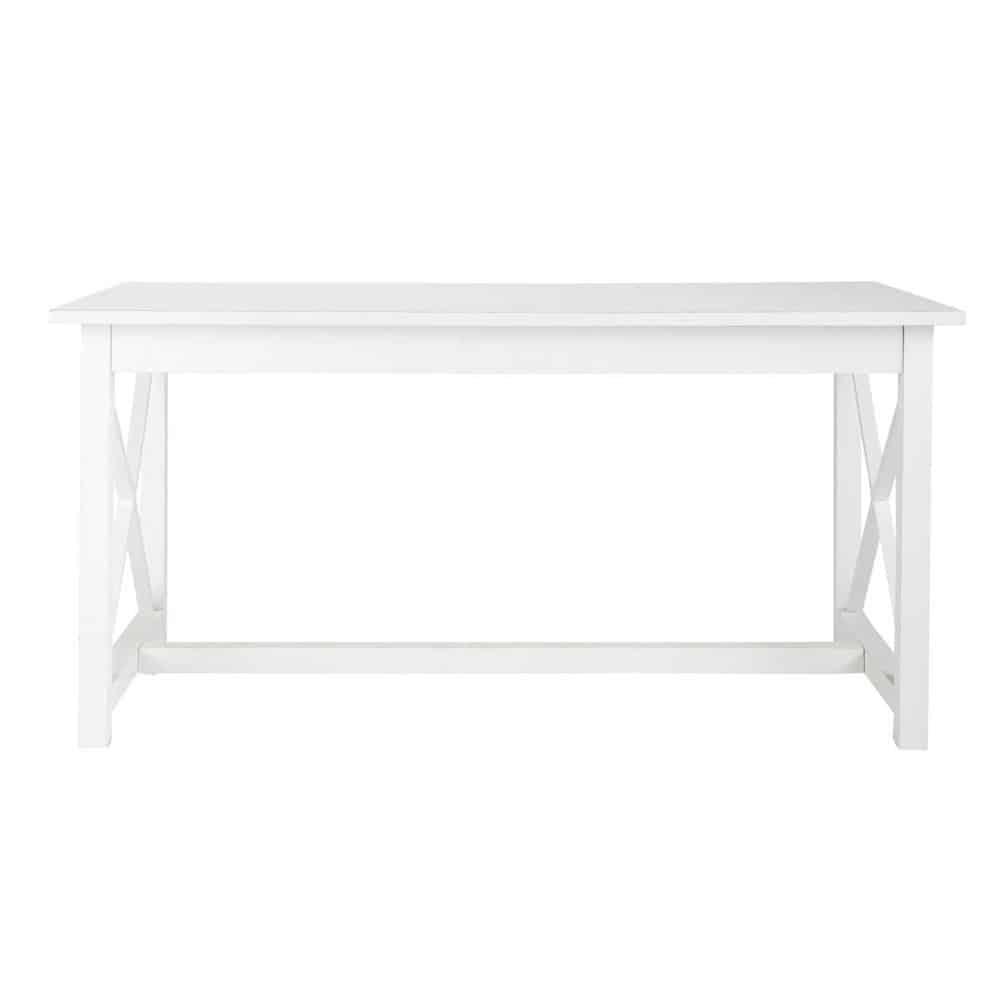 Tavolo bianco per sala da pranzo in legno l 160 cm newport for Tavolo in legno bianco