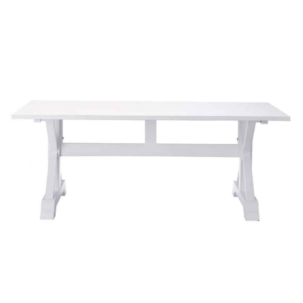 Tavolo bianco per sala da pranzo in legno l 200 cm for Tavolo legno per sala da pranzo