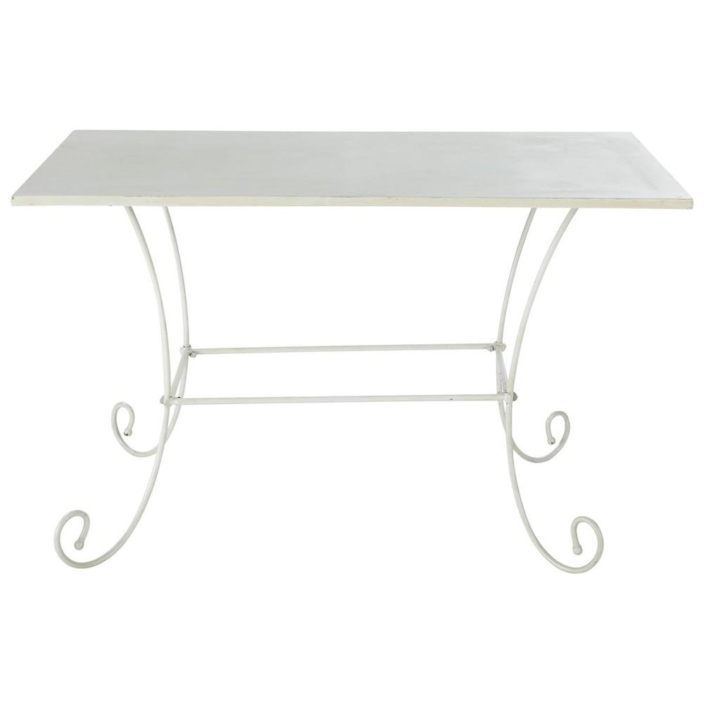 Tavolo color avorio da giardino in metallo e ferro battuto - Tavolo in ferro battuto da giardino ...