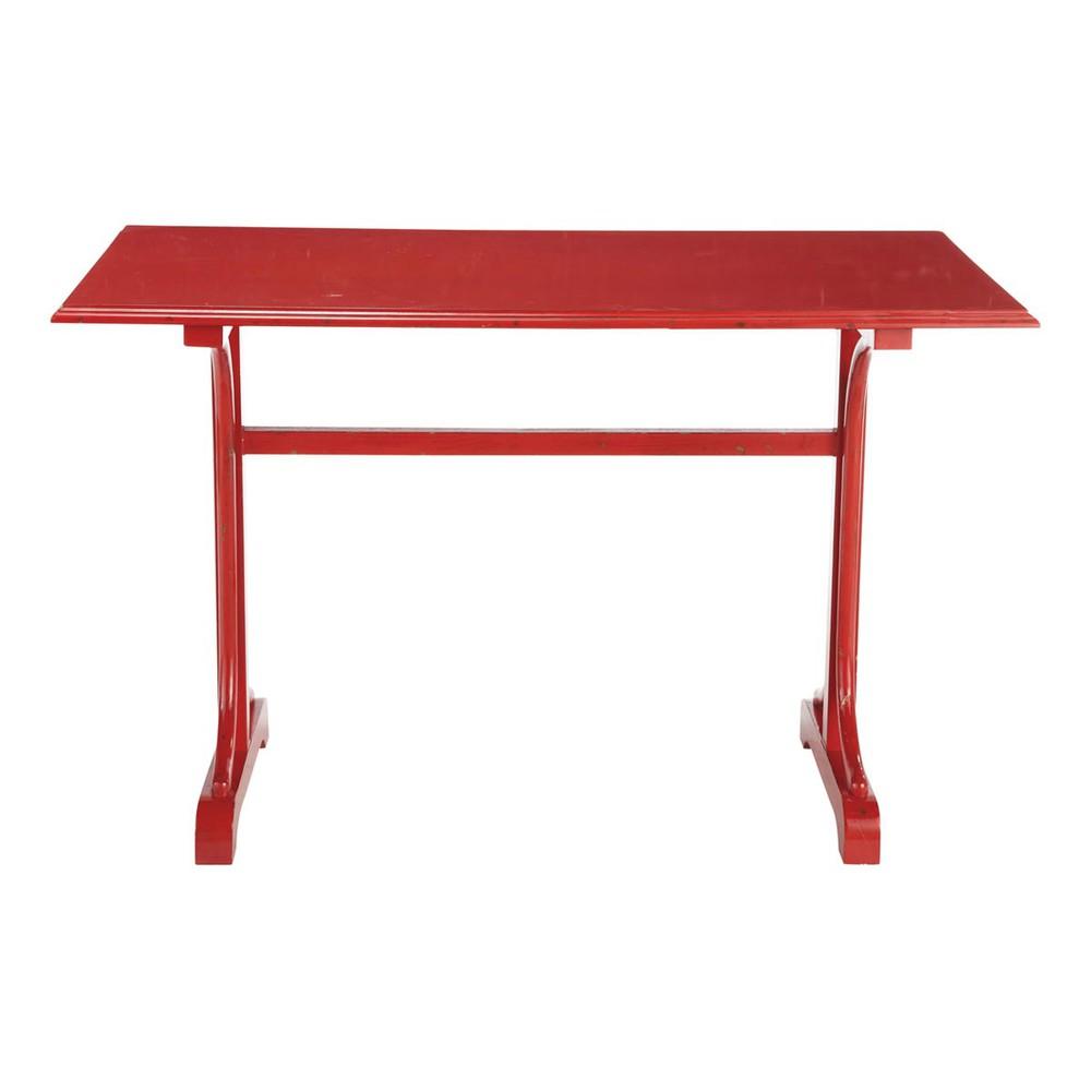 Tavolo da cucina rosso rettangolare - Brasserie Brasserie  Maisons du Monde