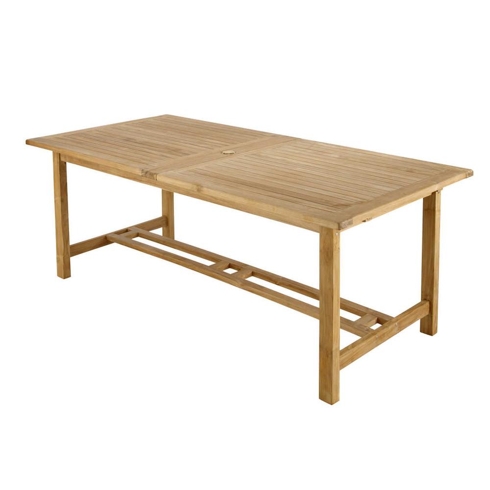 Tavolo da giardino in massello di tek l 207 cm ol ron - Maison du monde mobili da giardino ...