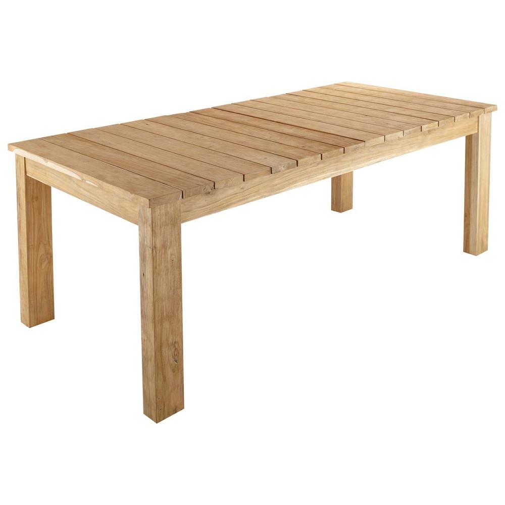 ... da giardino › Tavolo da giardino in tek riciclato L 220 cm GUERANDE