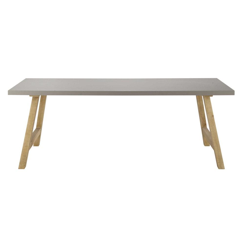 Tavolo effetto cemento cerato per sala da pranzo l 220 cm - Tavoli da pranzo maison du monde ...
