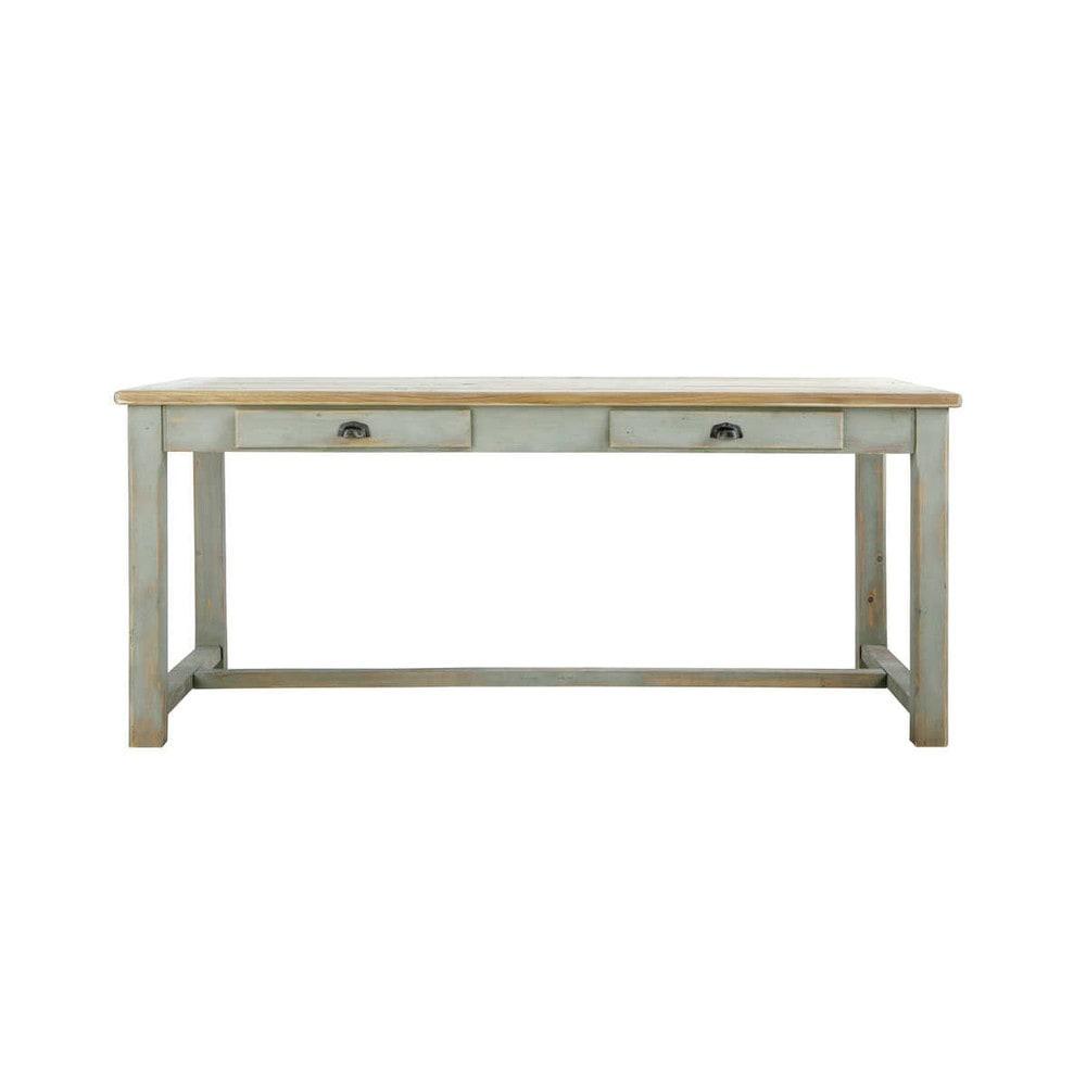 Tavolo grigio per sala da pranzo in legno l 180 cm sarlat for Tavolo da sala in legno