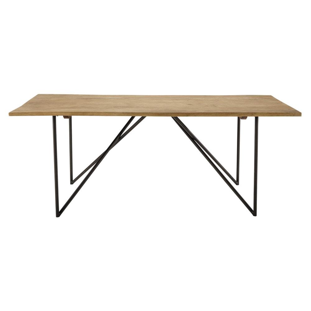 Tavolo in massello di mango per sala da pranzo l 200 cm - Tavolo per sala da pranzo ...