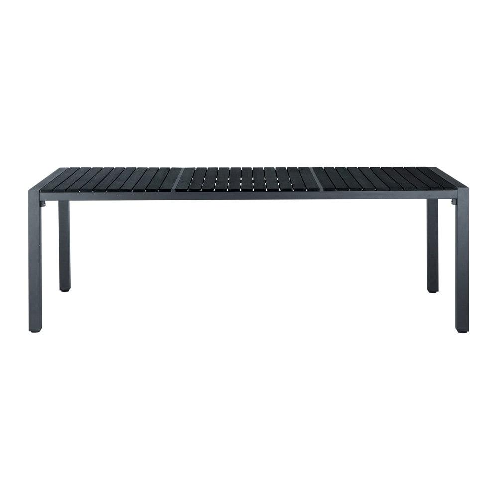 Tavolo nero da giardino in materiale composito simil legno ...