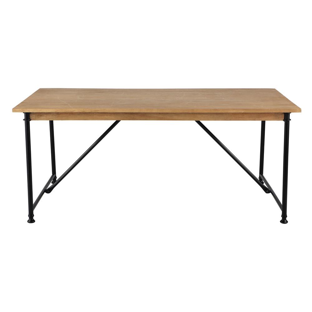 Tavolo per sala da pranzo in mango e metallo L 180 cm ...