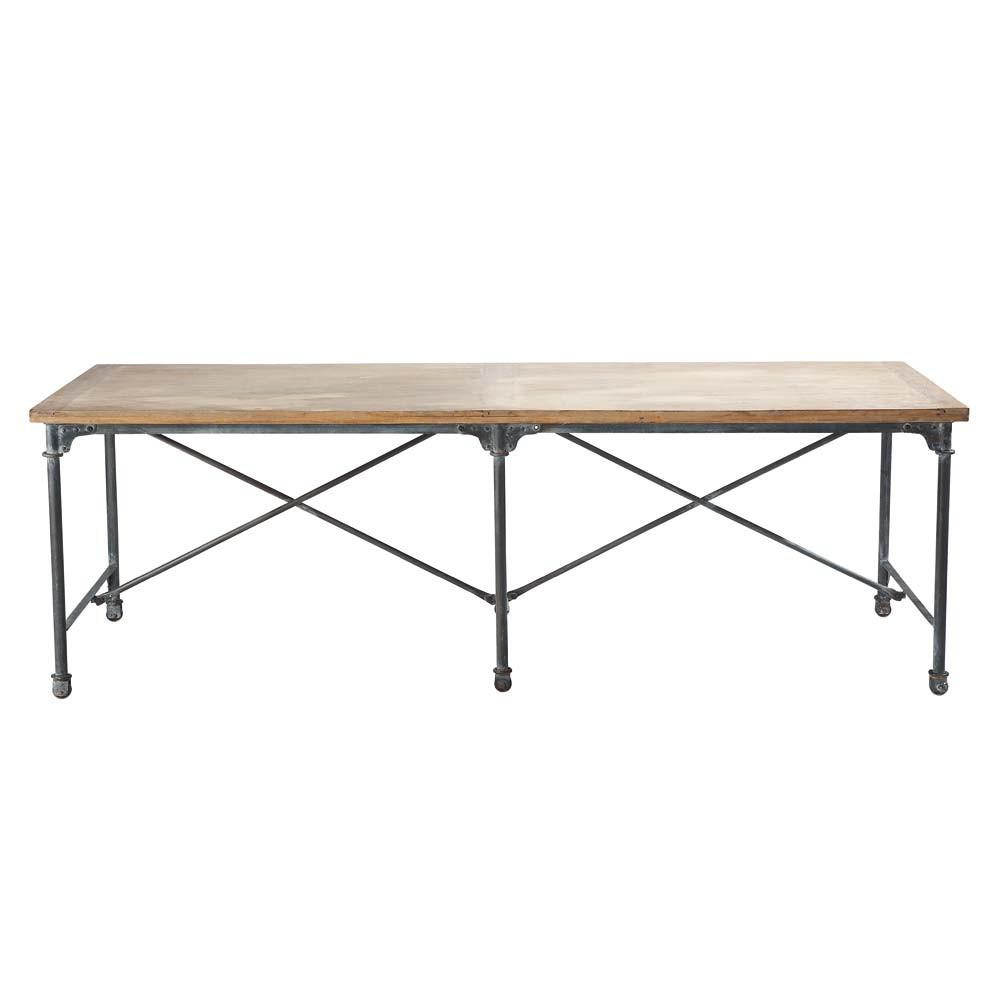 Tavolo per sala da pranzo in massello di mango e metallo l - Tavolo per sala da pranzo ...