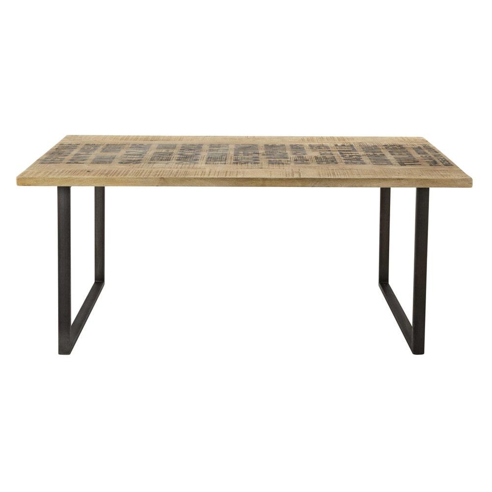 Tavolo per sala da pranzo in massello di mango l 180 cm station ...
