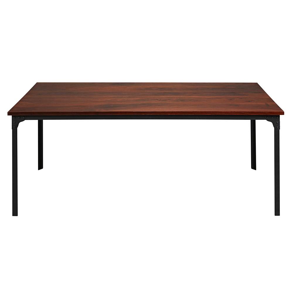 Tavolo per sala da pranzo nero in legno massello di - Piantana per tavolo da pranzo ...