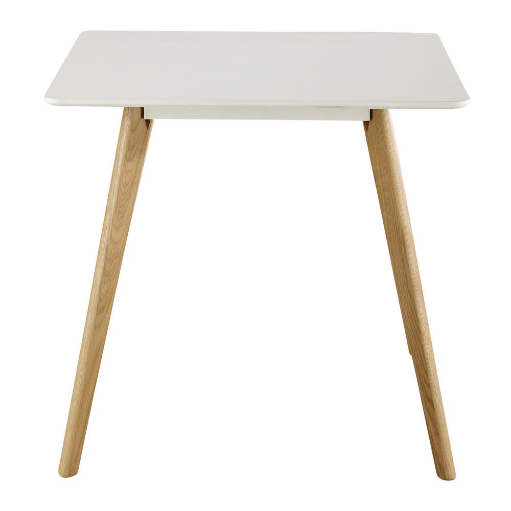 Tavolo quadrato bianco per sala da pranzo L 80 cm June  Maisons du Monde
