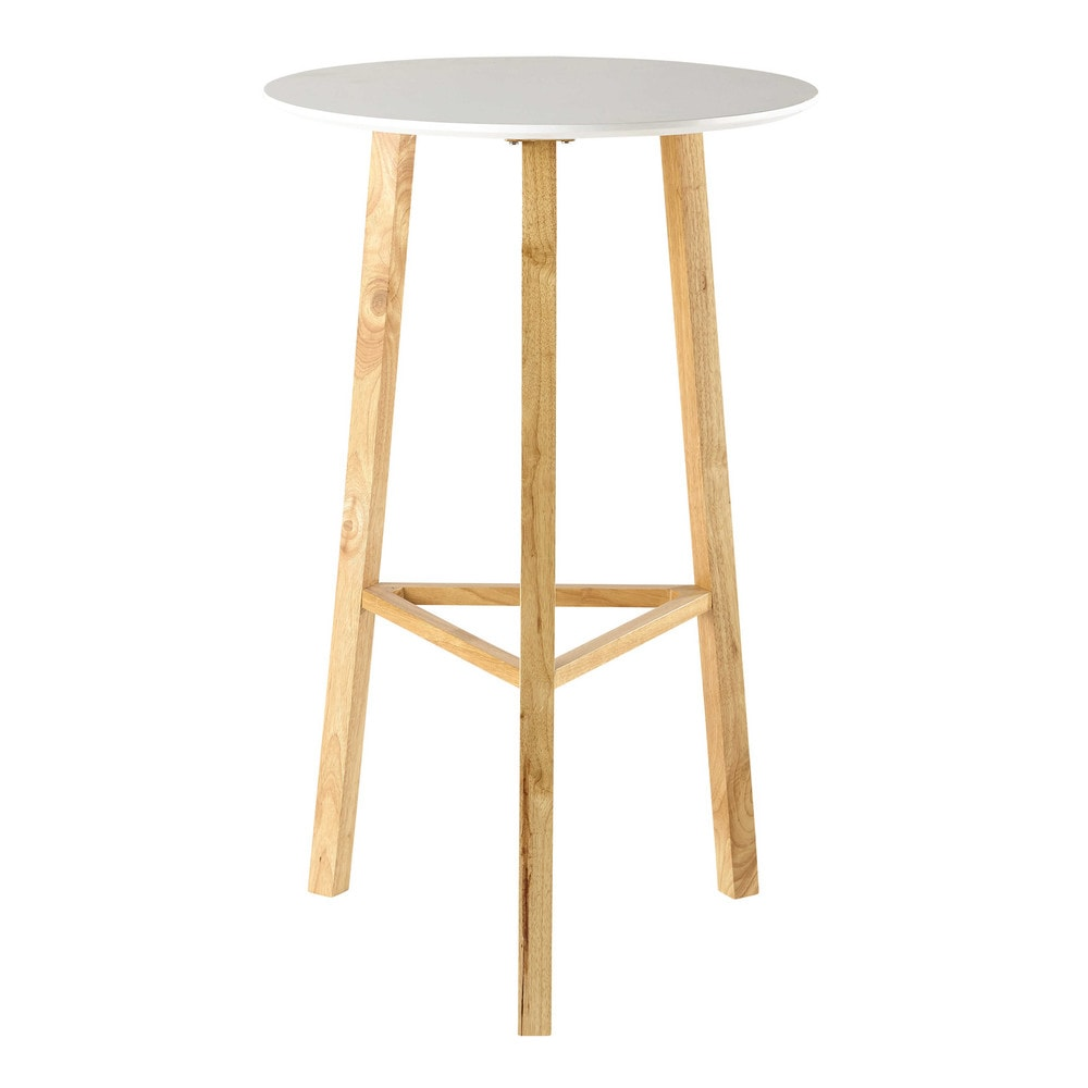 Tavolo rotondo alto bianco per sala da pranzo d 65 cm milo for Tavolo sala da pranzo bianco