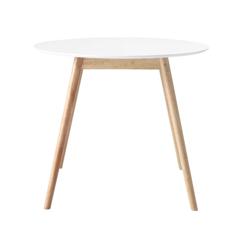 Tavolo rotondo bianco per sala da pranzo in hevea d 90 cm for Tavolo bianco rotondo allungabile