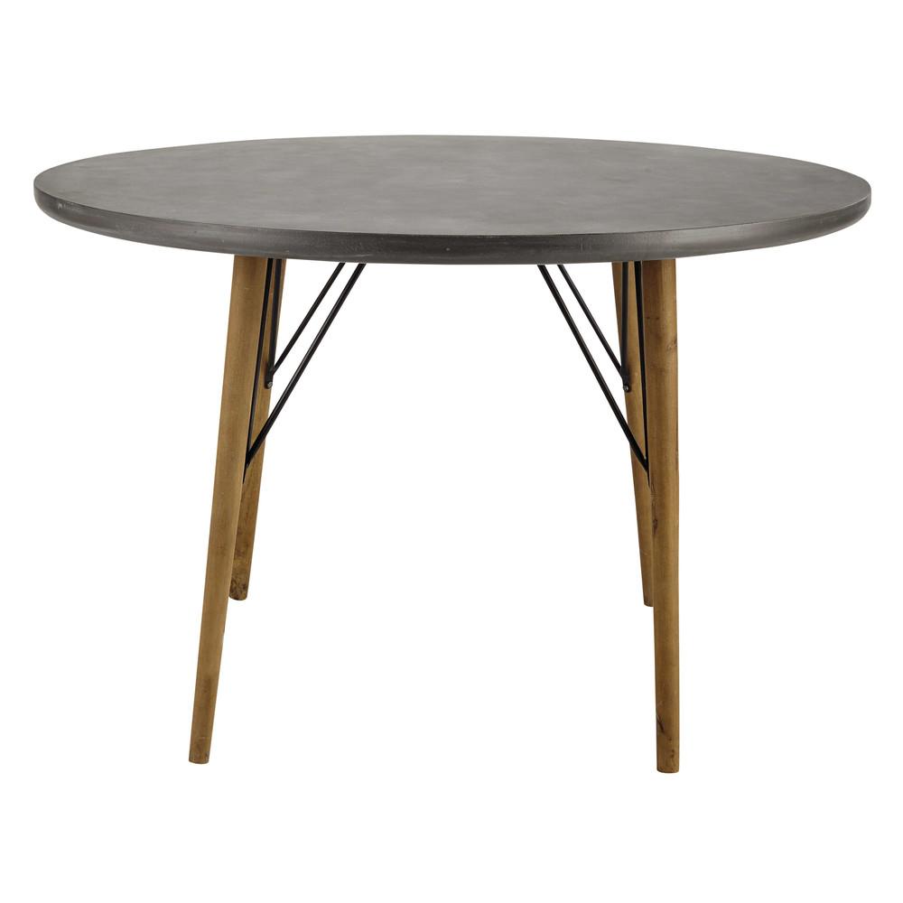 Tavolo rotondo in legno per sala da pranzo d 120 cm - Tavoli da pranzo maison du monde ...