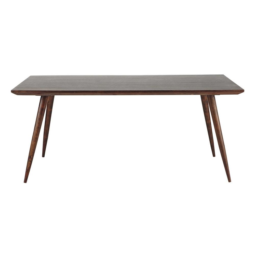 Tavolo scuro per sala da pranzo in massello di legno di for Tavolo sala da pranzo legno