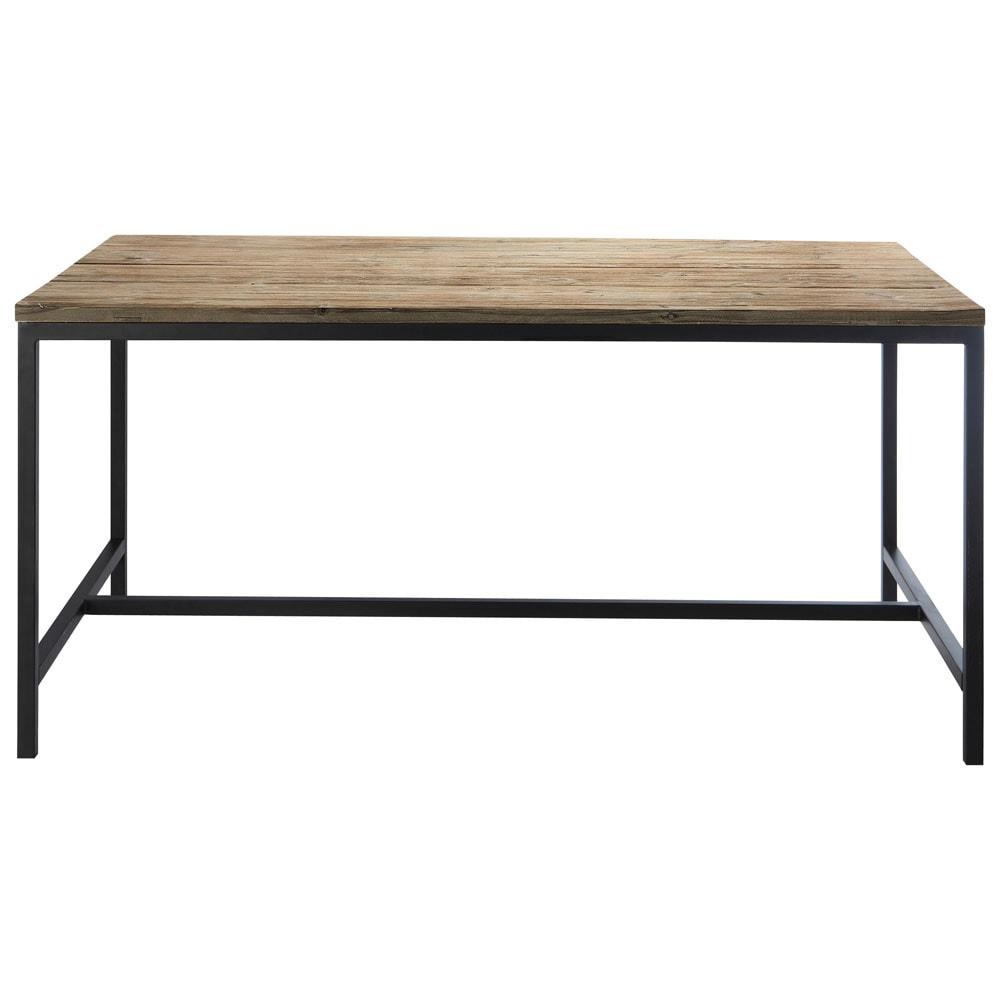 Tavolo stile industriale per sala da pranzo in massello di for Tavolo pranzo legno